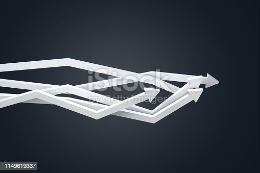 1149620931 istock photo Financial Chart with Arrows 1149619337