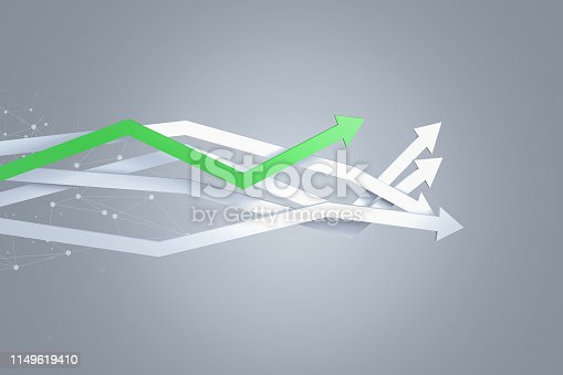 1149620931 istock photo Financial Chart with Arrows 1149619410