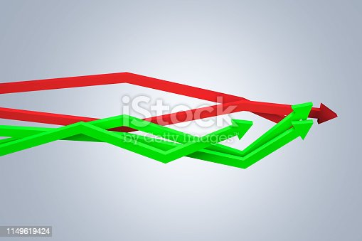 1149620931 istock photo Financial Chart with Arrows 1149619424