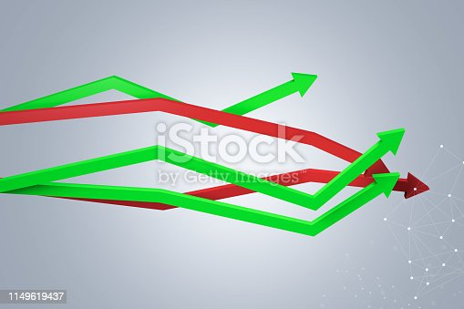 1149620931 istock photo Financial Chart with Arrows 1149619437