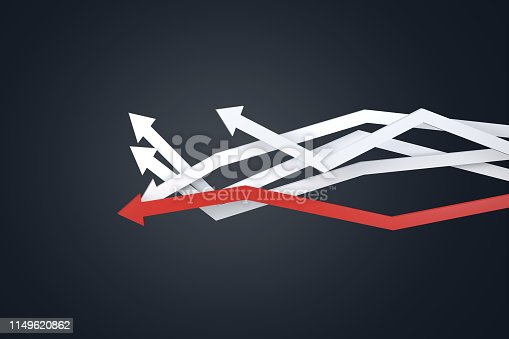 istock Financial Chart with Arrows 1149620862