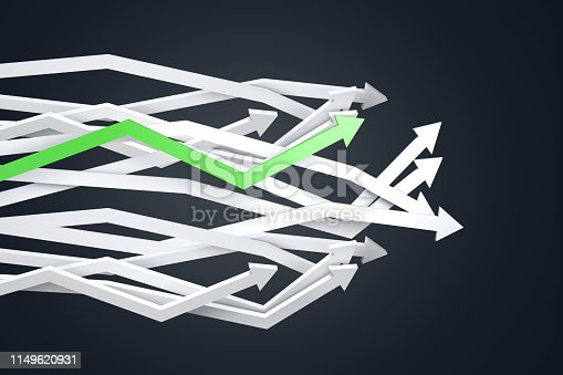 istock Financial Chart with Arrows 1149620931