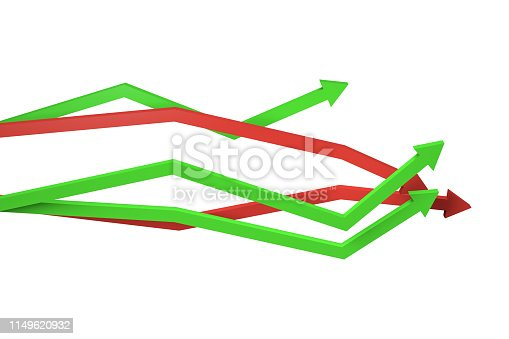 1149620931 istock photo Financial Chart with Arrows 1149620932