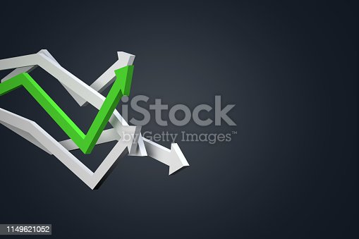 1149620931istockphoto Financial Chart with Arrows 1149621052