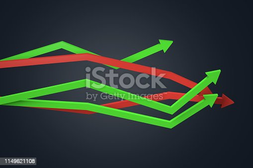 1149620931istockphoto Financial Chart with Arrows 1149621108