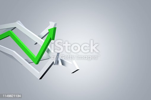 1149620931istockphoto Financial Chart with Arrows 1149621134