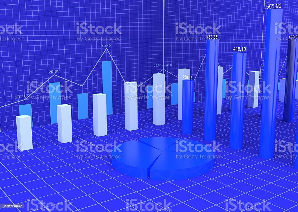 Financial Charts Abstract Business Diagrams - Photo
