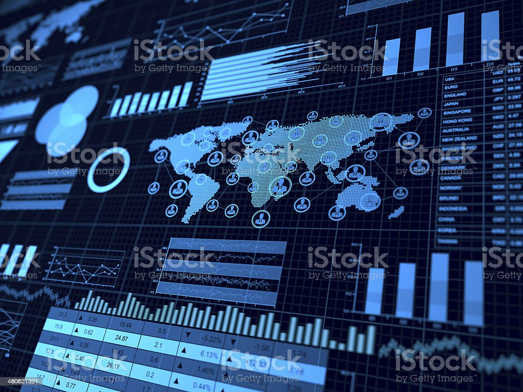 Financial charts abstract business graph stock photo