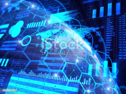 istock Financial charts abstract business graph 480937337