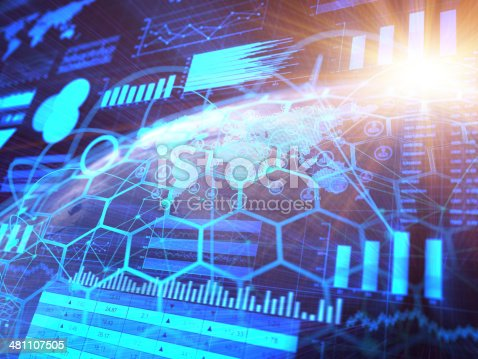istock Financial charts abstract business graph 481107505