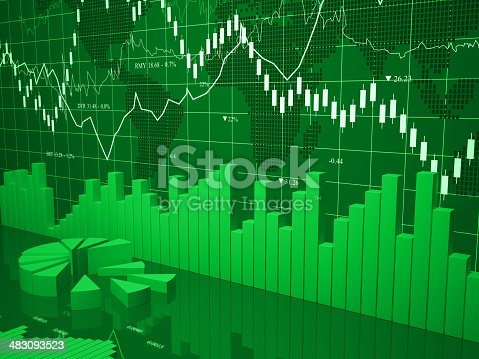 istock Financial charts abstract business graph 483093523