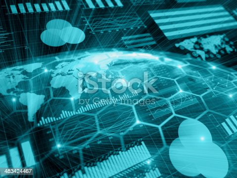 istock Financial charts abstract business graph 483424467