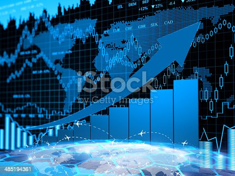 istock Financial charts abstract business graph 485194361