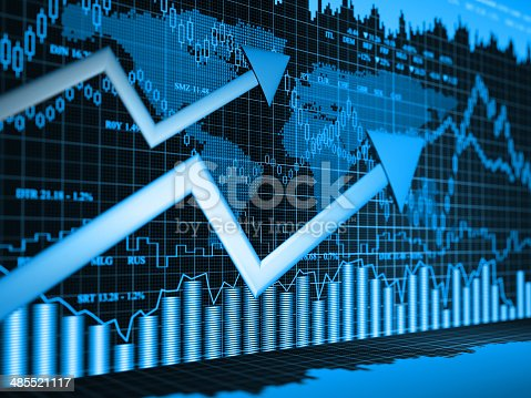 istock Financial charts abstract business graph 485521117