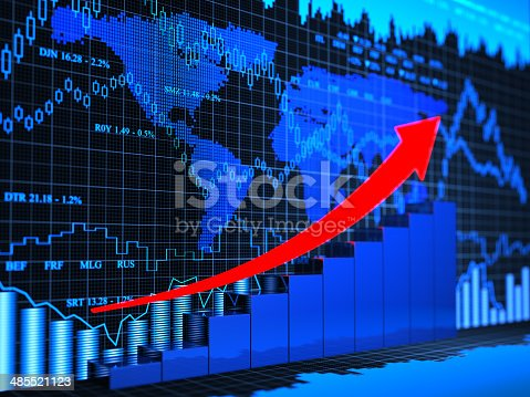 istock Financial charts abstract business graph 485521123