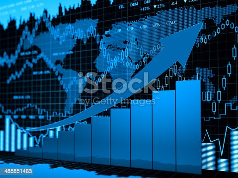 istock Financial charts abstract business graph 485851463