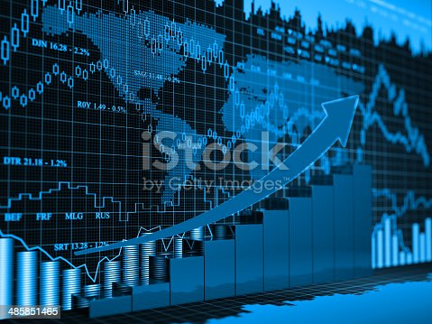 istock Financial charts abstract business graph 485851465