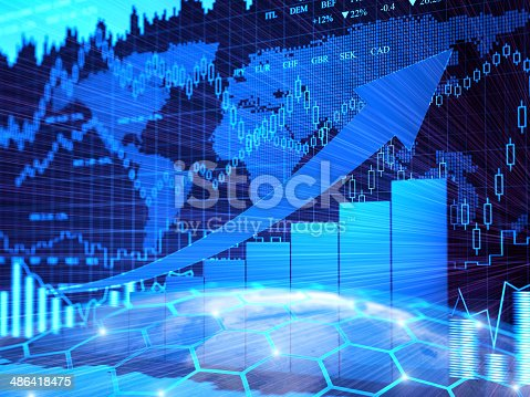 istock Financial charts abstract business graph 486418475