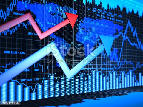istock Financial charts abstract business graph 486445199