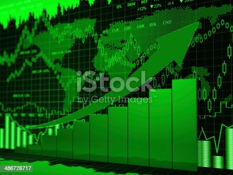 155351584istockphoto Financial charts abstract business graph 486726717