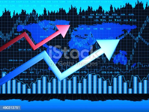 istock Financial charts abstract business graph 490313751