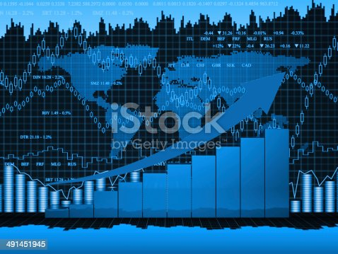 istock Financial charts abstract business graph 491451945