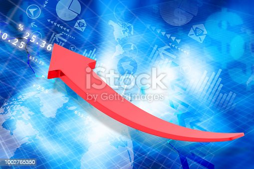 istock Financial charts and graphs 1002765350