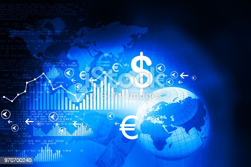 531581605 istock photo Financial charts and graphs with digital world 970700240