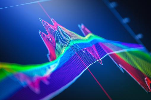 istock Financial charts at digital display 866049596