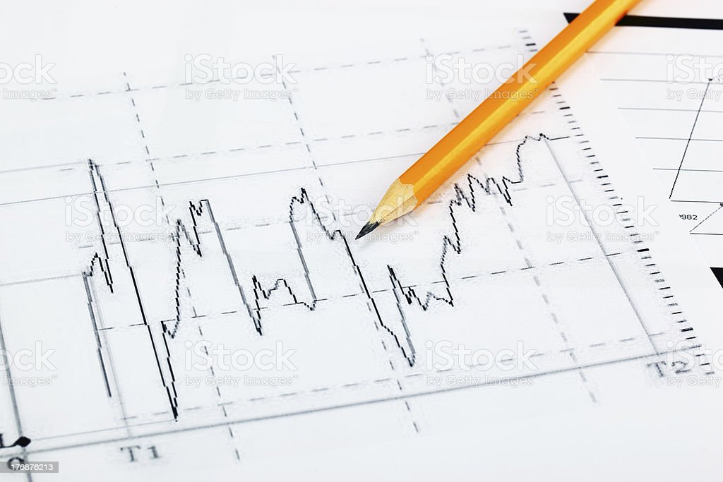 financial charts royalty-free stock photo
