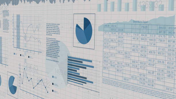 financial charts, stock market sheets with numbers and financial charts, concept of business, stock market (3d render) data stock pictures, royalty-free photos & images