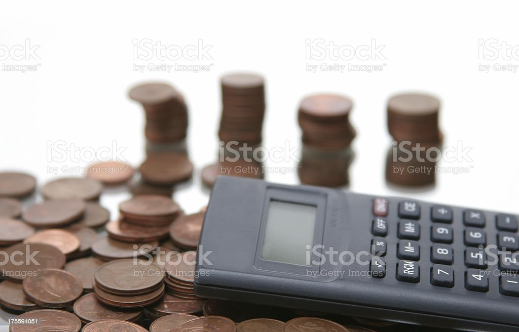 financial check up, counting money royalty-free stock photo