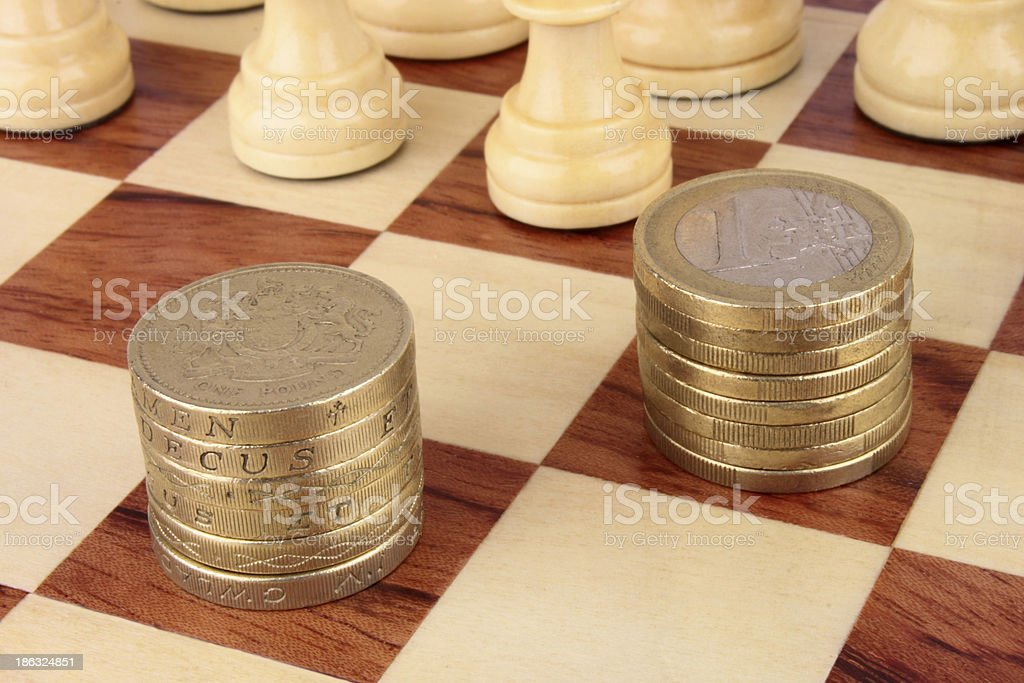 Financial Chess Moves royalty-free stock photo