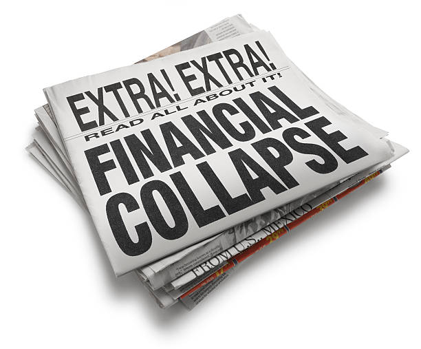 Financial Collapse A newspaper with the headline