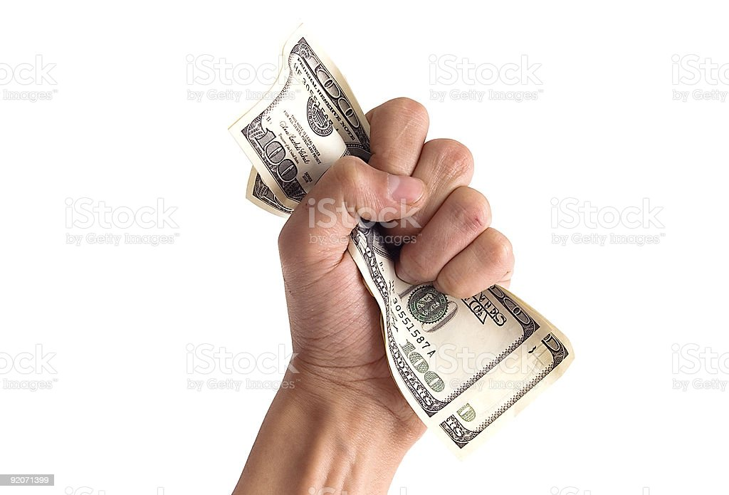 financial concept - hand with money stock photo