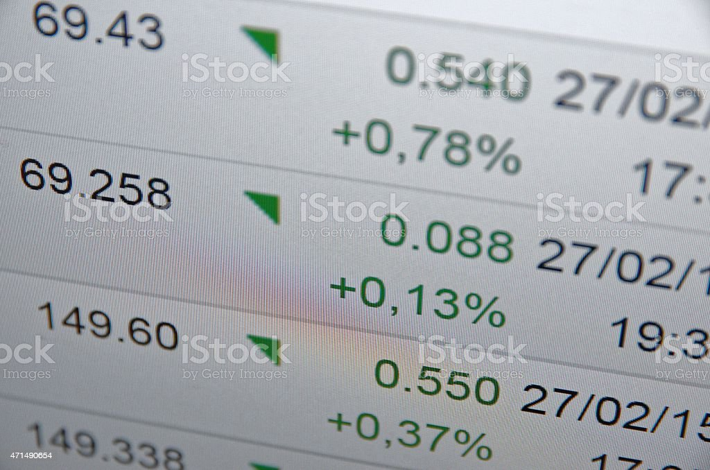 Financial concept stock photo