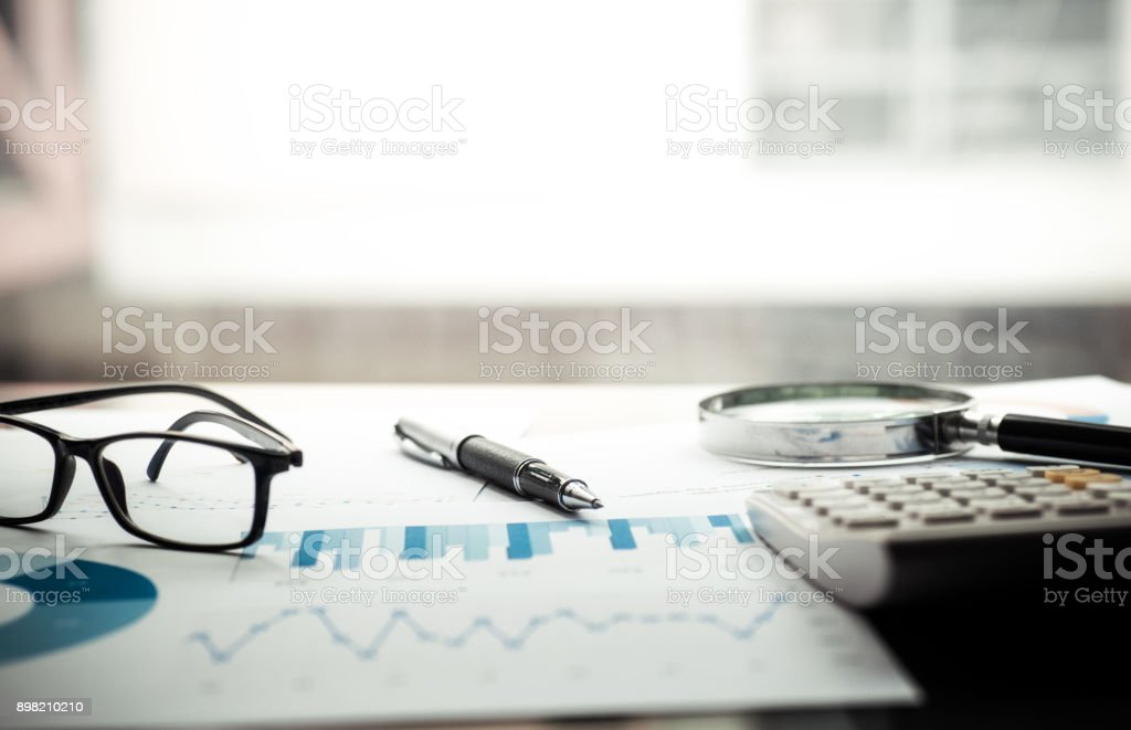 Financial concepts, analysis, planning stock photo