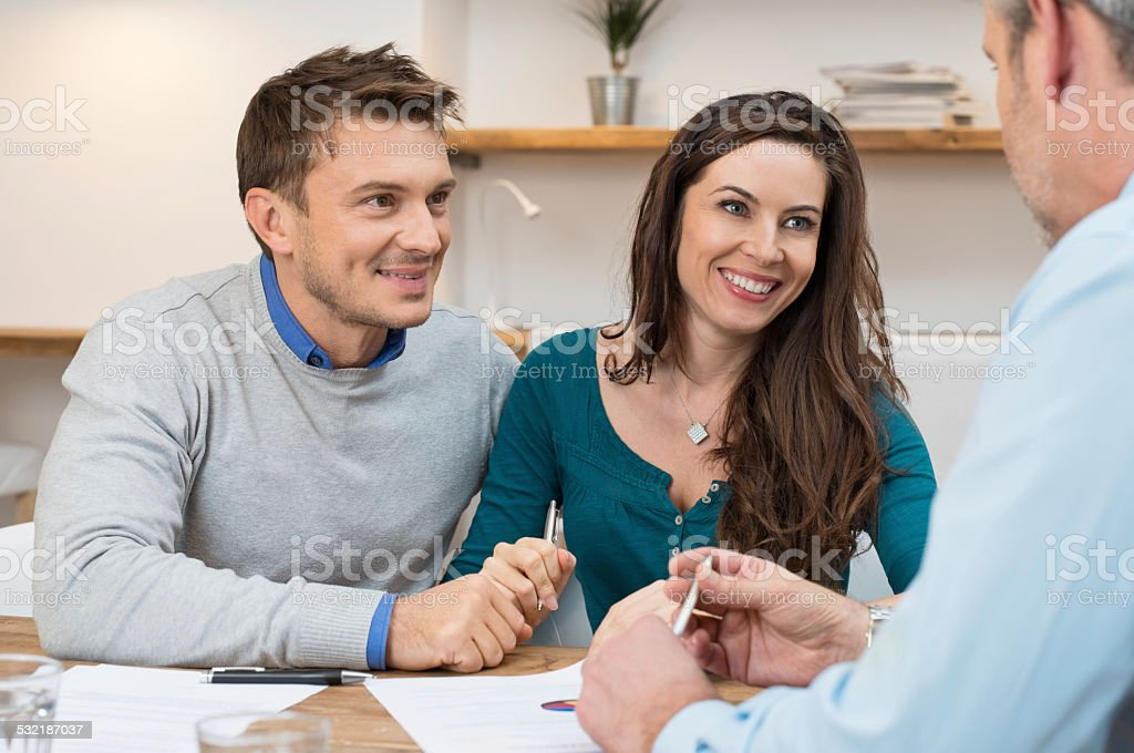 Financial consultation stock photo