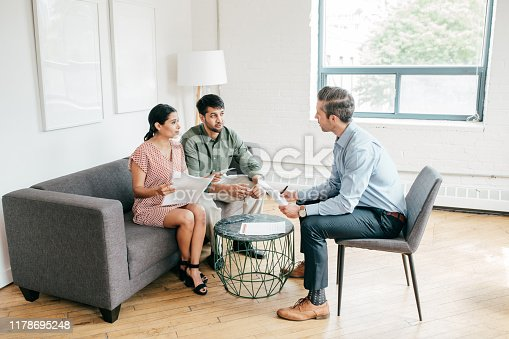 1178695243 istock photo Financial consultation with financial advisor 1178695248