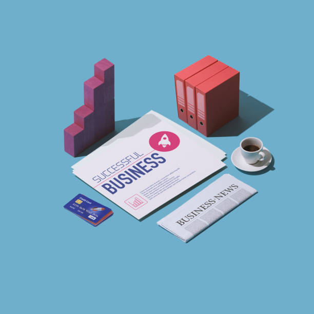 financial consulting business cards - advertising isometric stock pictures, royalty-free photos & images