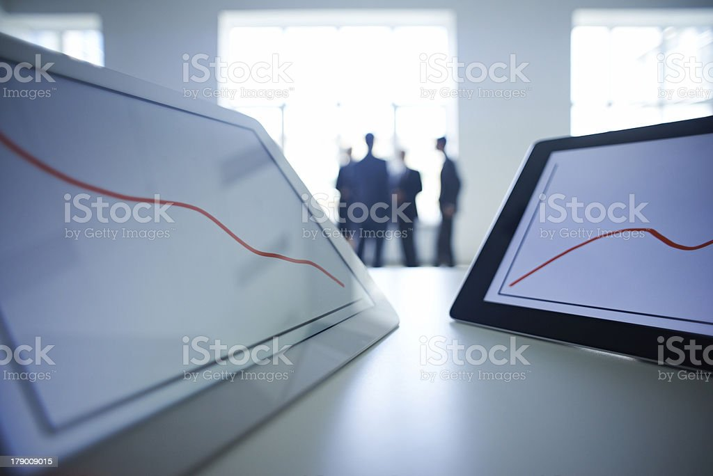Financial contrasts stock photo