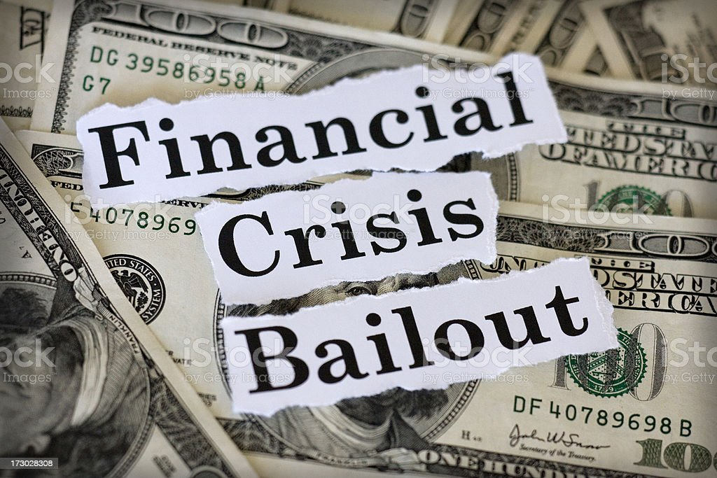 financial crisis bailout royalty-free stock photo