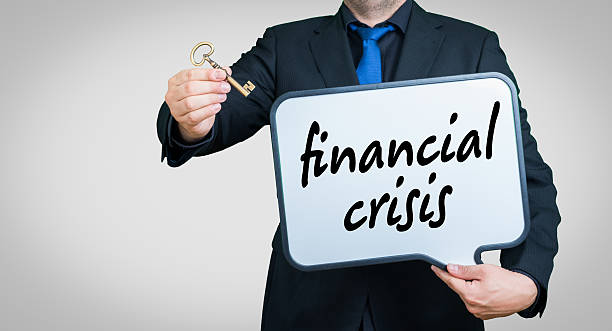 financial crisis businessman stock photo