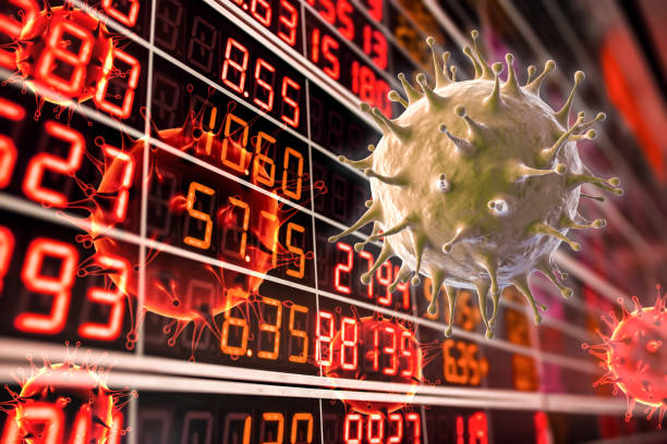 Financial crisis concept from covid-19 stock photo