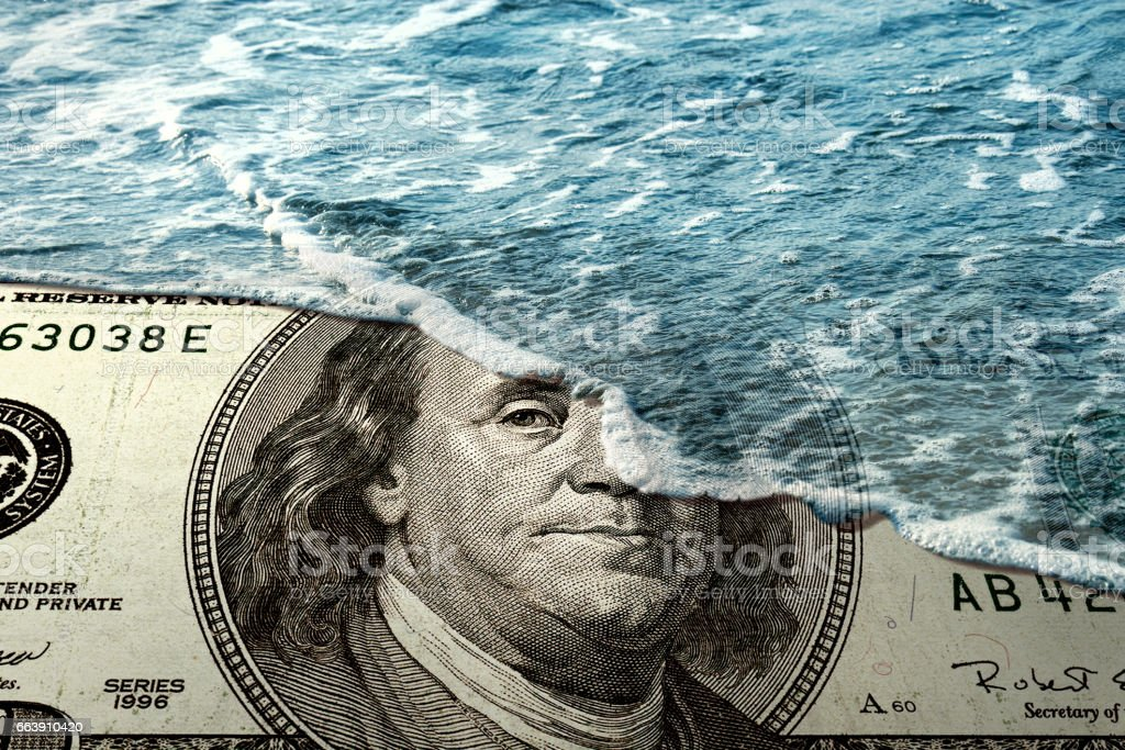 Financial crisis concept stock photo