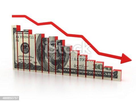 istock financial crisis, dollar diagram 488850737