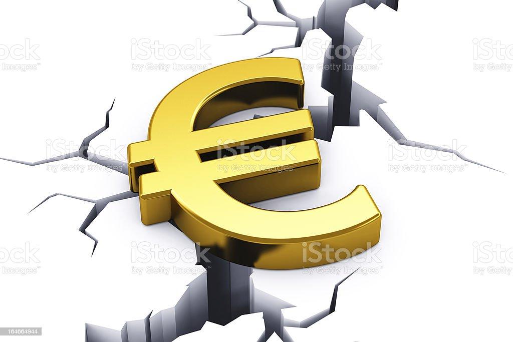 Financial crisis in European Union royalty-free stock photo