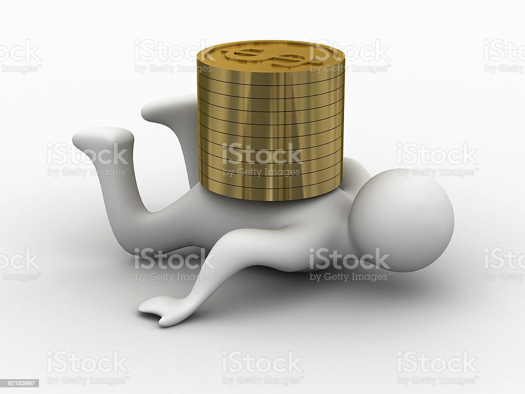 Financial crisis. Isolated 3D image royalty-free stock photo