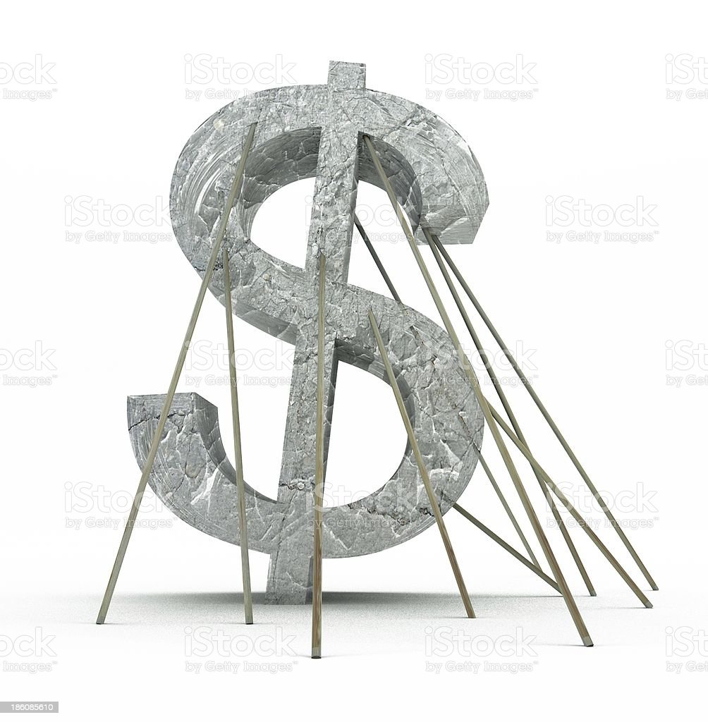 financial crisis of dollar currency royalty-free stock photo