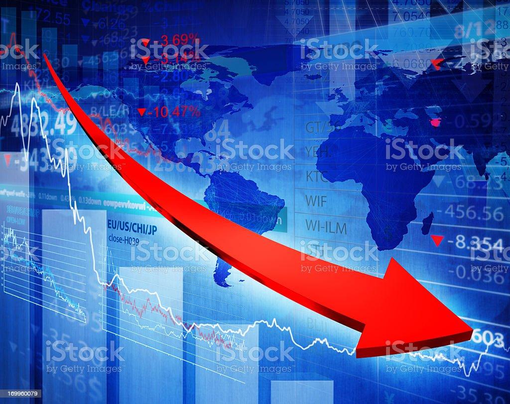Financial crisis. stock photo